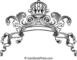 szín, királyi lombkorona, kanyarok, egy, szüret, transzparens