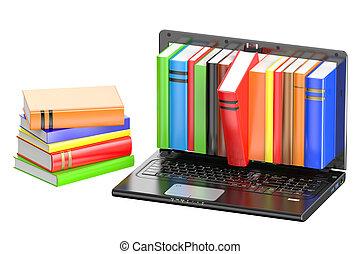 szín, laptop, előjegyez, kazal