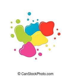 szín, loccsanás, tervezés, háttér