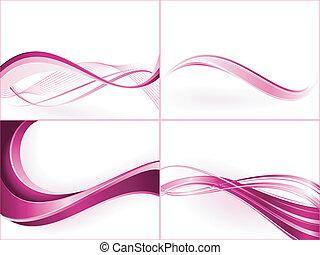 szín, maszk, darabka, gradients, lineáris, templates., globális, egyesül, swatches., bíbor, alkalmaz, rózsaszínű, lenget