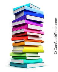 szín, nagy, előjegyez, kazal, hardcover