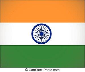 szín, nemzeti, india lobogó, tervez, helyesbít, méretek