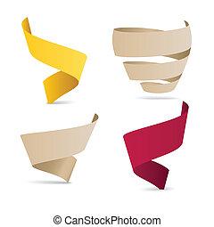 szín, origami, gyeplő