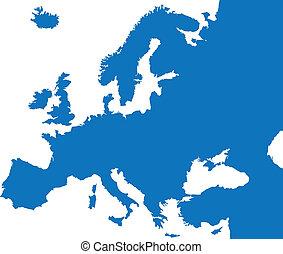 szín, ország, európa, térkép