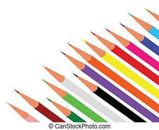 szín, rudacska, vektor