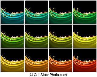 szín, selyem, állhatatos, függöny, fátyol