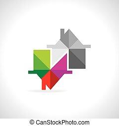 színes, épület