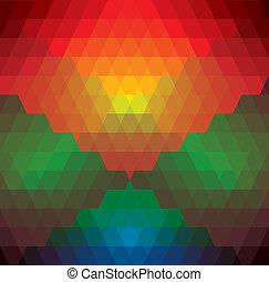 színes, barna, kap, shapes-, alakú, káró, befest, háromszögek, motívum, vektor, zöld, elkészített, &, rombusz, graphic., káró, kék, piros, elvont, ismétlődő, narancs, háttér, ábra, ez