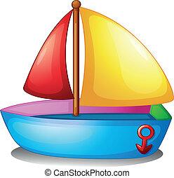 színes, csónakázik