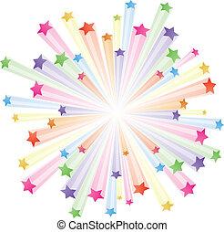 színes, csillaggal díszít