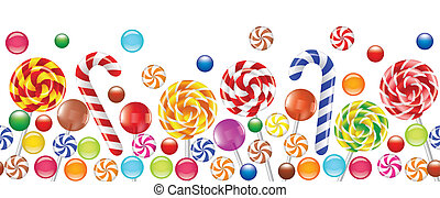 színes, cukorkák, gyümölcs, bonbon, cukorka
