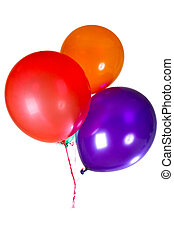 színes, dekoráció, sokszínű, születésnapi parti, léggömb, boldog