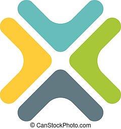 színes, design., vektor, 10., eps, ábra, jel, kereszt, sablon