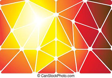 színes, elvont, alakzat, háttér, geometriai, háromszögek