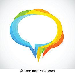 színes, elvont, -, beszéd, háttér, buborék