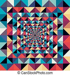 színes, elvont, pattern., seamless, hatás, látási, retro