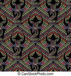 színes, elvont, pattern., seamless, kereszt, vektor, kézimunka