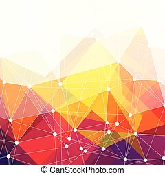 színes, elvont, vektor, háttér, tervezés, háromszögek