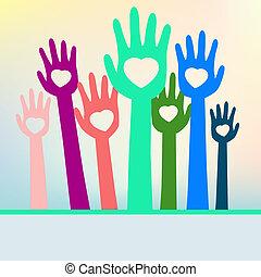 színes, eps, space., kézbesít, 8, másol, szerető