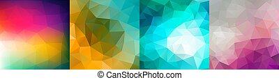 színes, geometriai, vektor, állhatatos, háttér.