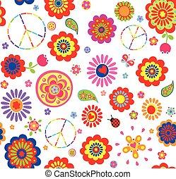 színes, hippi, gyerekes, tapéta
