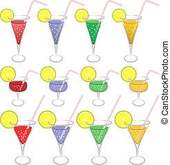 színes, iszik