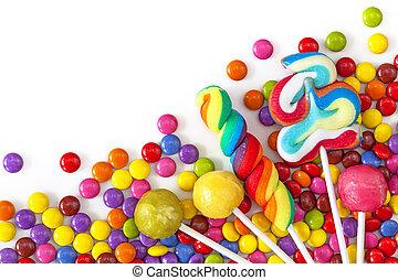 színes, kevert, édesség