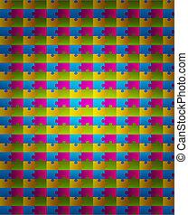 színes, kivonat alakzat, vektor, tervezés, háttér, rejtvény