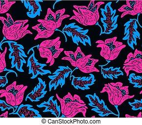 színes, motívum, seamless, fényes, virágos, menstruáció