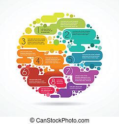 színes, szöveg, elvont, hely, háttér, infographics