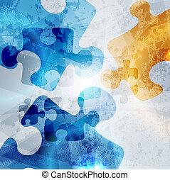 színes, szüret, elvont, háttér., alakít, vektor, tervezés, egyesített, rejtvény