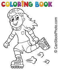 színezés, 1, téma, outdoor sport, könyv