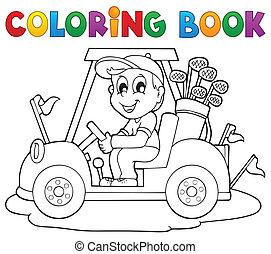 színezés, külső, téma, 2, sport, könyv