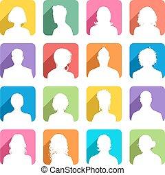 színezett, avatars, árnyék, lakás, szereposztás