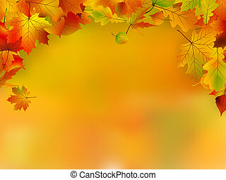 színezett, hely, ősz, őt lap, másol, kártya