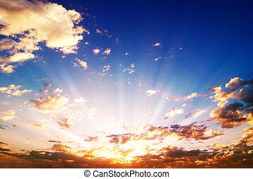 színezett, napkelte