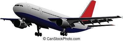 színezett, vect, utas, airplanes.