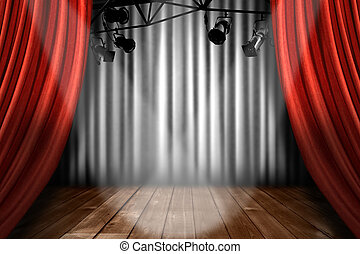 színház, kiállítás, állati tüdő, előadás, reflektorfény, fokozat