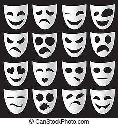 színház, maszk