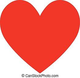 szív, -, ábra, háttér, white piros, ikon
