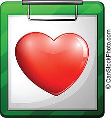 szív, ápoló, diagram