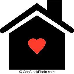 szív, épület icon