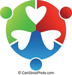 szív, 3, design., ügy, jel