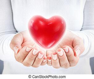 szív, adományoz