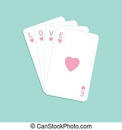 szív, aláír, tervezés, háttér, piszkavas, szeret, lakás, játék, kazal, kártya