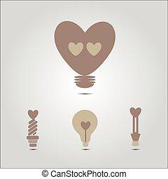 szív alakzat, gumó, fény