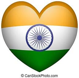szív alakzat, india lobogó, ikon