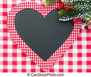 szív alakzat, karácsonyi üdvözlőlap, tiszta