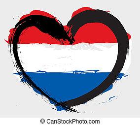 szív alakzat, lobogó, nederland
