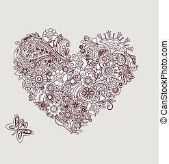 szív alakzat, mehndi, szüret